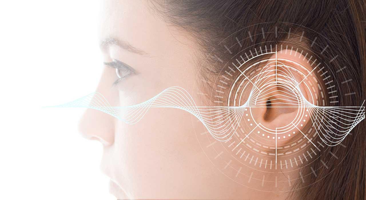 Woman's attentive ear