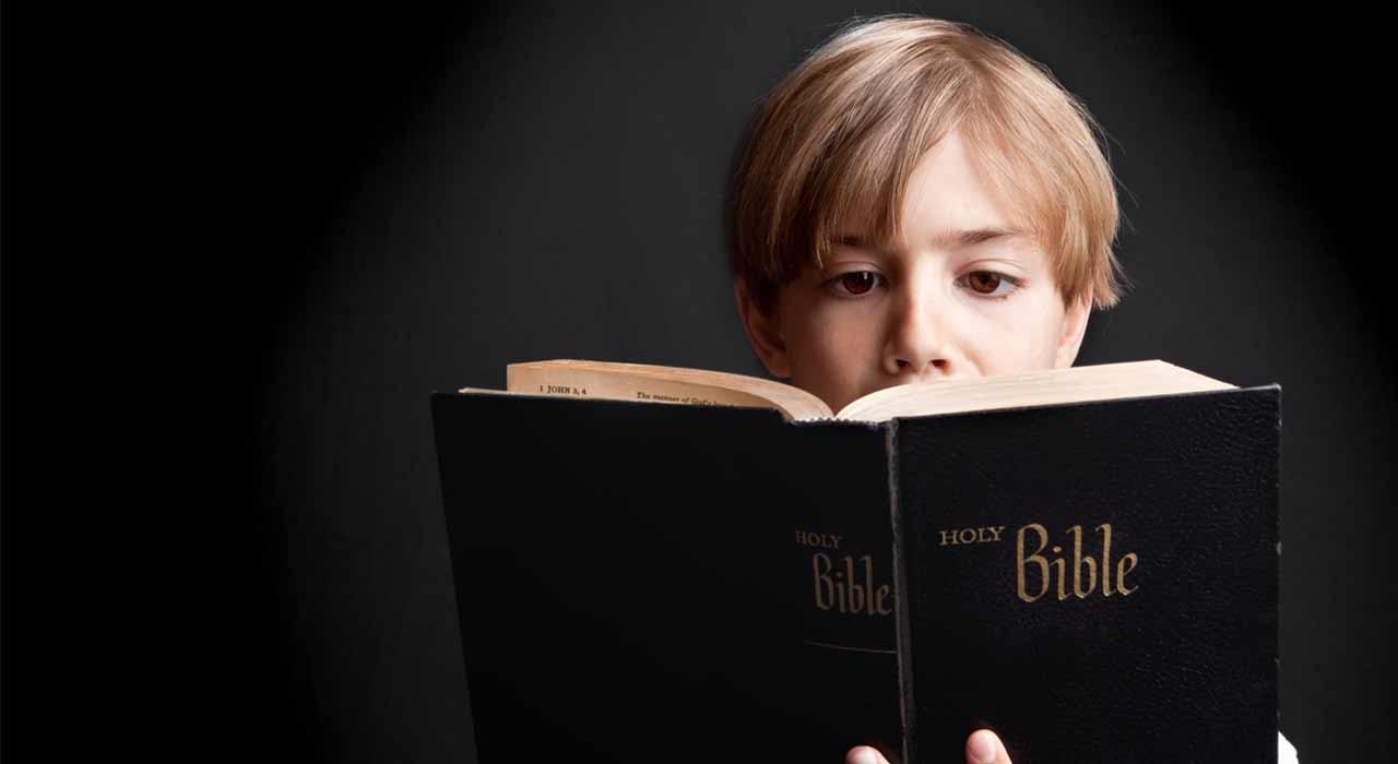 Woman reading bible