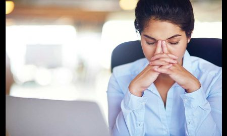 woman frustrated at work
